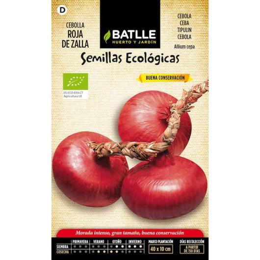 Semillas ecológicas de Cebolla Roja de Zalla