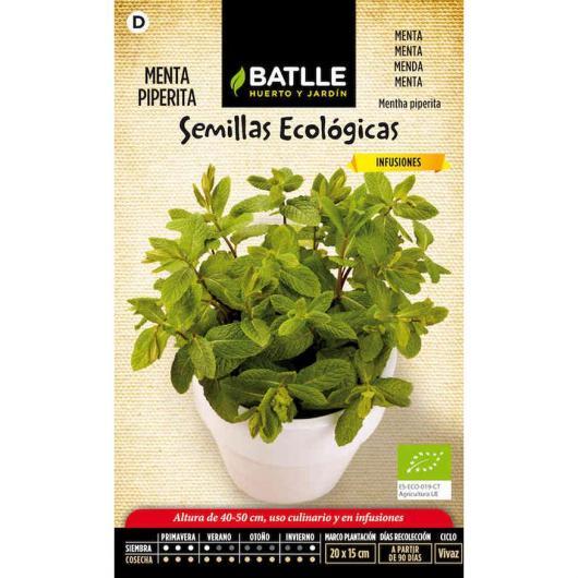 Semillas ecológicas de Menta Piperita