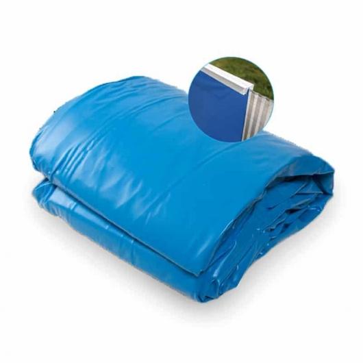 Liner fondo unicolor Azul Ø 350 x 90 cm con sistema colgante Gre