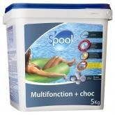 Cloro Multifunción + choque pastillas 250 g doble capa - 5 Kg Gre