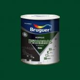 Pittura multisuperfice opaca Acrilico Pizarras Bruguer 750 ml VERDE