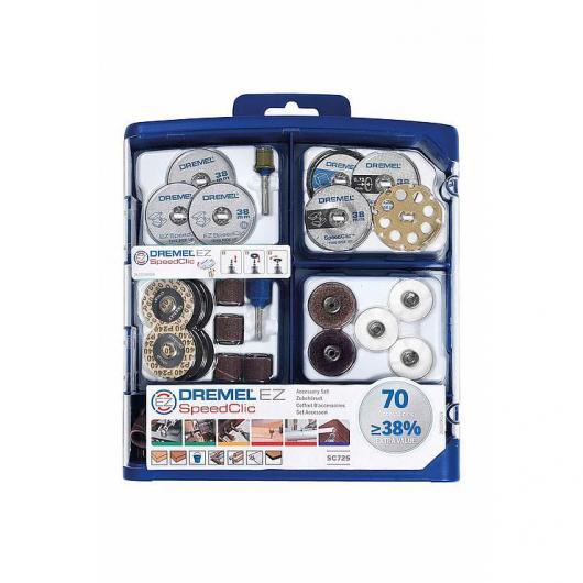 Set di 70 accessori multiuso EZ Speedclic E725