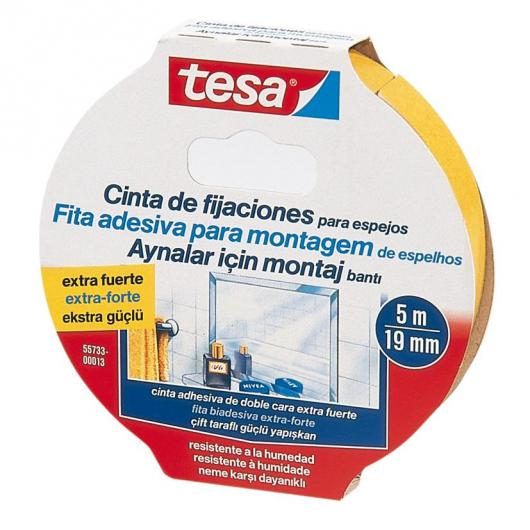 Bande double face extra forte Tesa 5 m x 19 mm