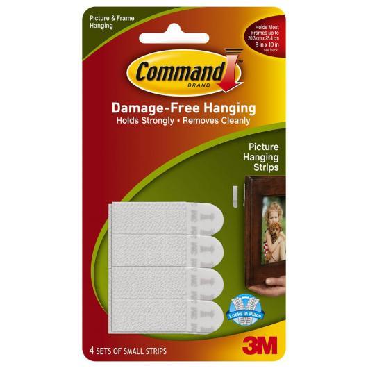 Pack de 8 tiras pequeñas para cuadros Command