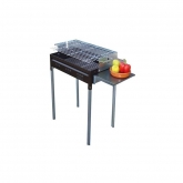 Barbecue à charbon et bois de chauffage Modèle H