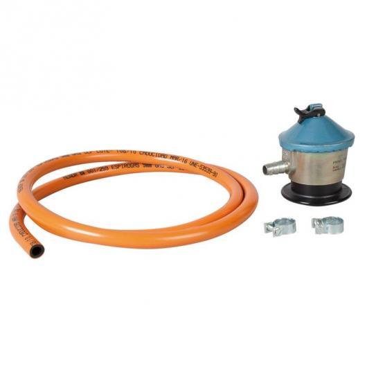 Kit tuyau gaz butane, pinces et régulateur