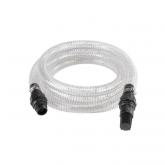 Tubo trasparente di aspirazione di 4 m e connettore di plastica Einhell