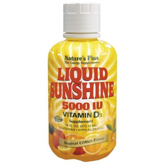 Vitamina D3 liquid Sunshine Nature's Plus, 473,18 ml