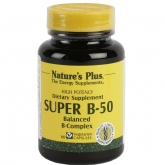 Super B-50 Nature's Plus, 60 cápsulas