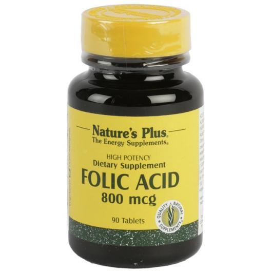 Ácido fólico Nature's Plus, 90 comprimidos