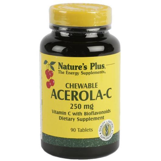 Acérola C 250 mg Nature's Plus, 90 comprimés