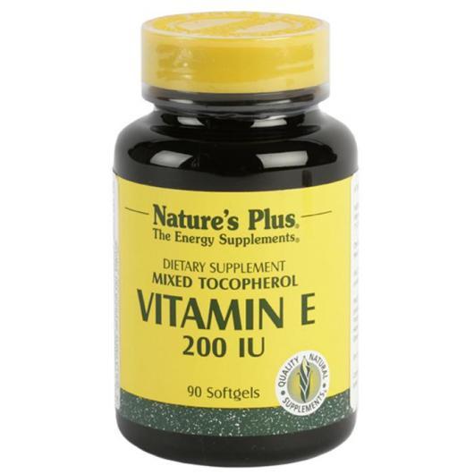 Vitamine E 200 UI Nature's Plus, 90 gélules