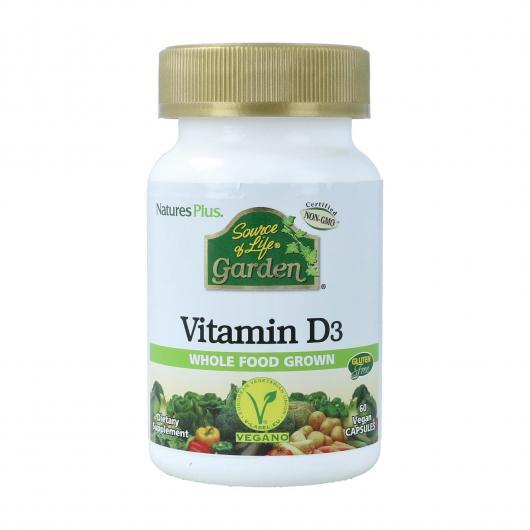 Vitamine D3 Garden Nature's Plus, 60 comprimés