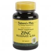 Picolinato de zinc Nature's Plus, 60 comprimidos