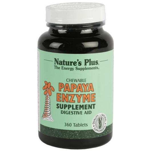 Enzyme de papaye Nature's Plus, 360 comprimés