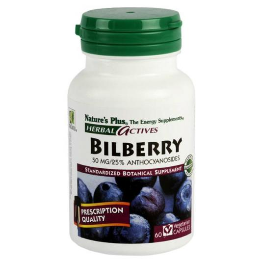 Arándano azul (Bilberry) Nature's Plus, 60 cápsulas