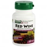 Vino Tinto (Red Wine) 500mg Nature's Plus, 60 cápulas
