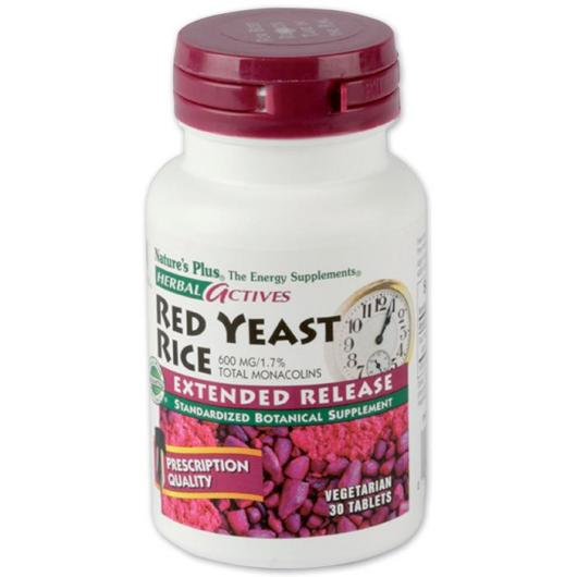 Levure de riz rouge Nature's Plus, 30 comprimés
