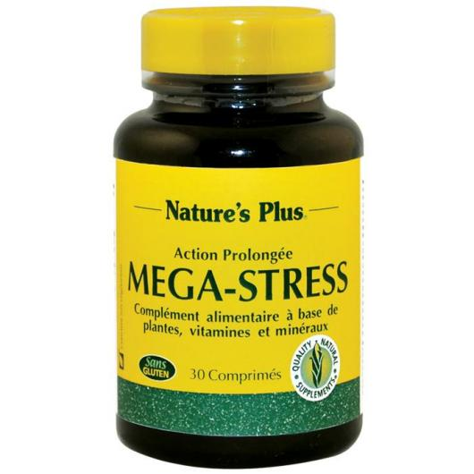 Mega-Stress Nature's Plus, 30 comprimés