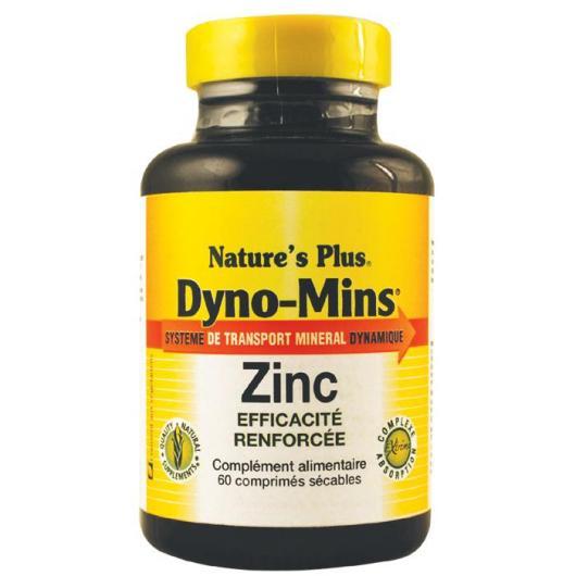 Dyno-Mins Zinc 15 mg Nature's Plus, 60 comprimés