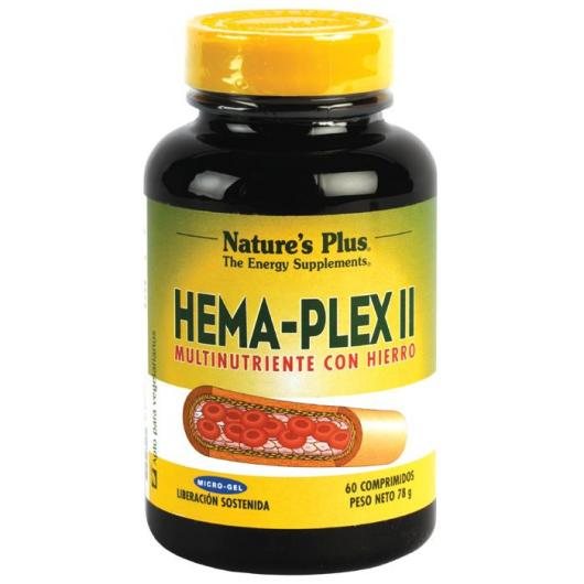Hema-Plex II Nature's Plus, 60 comprimidos