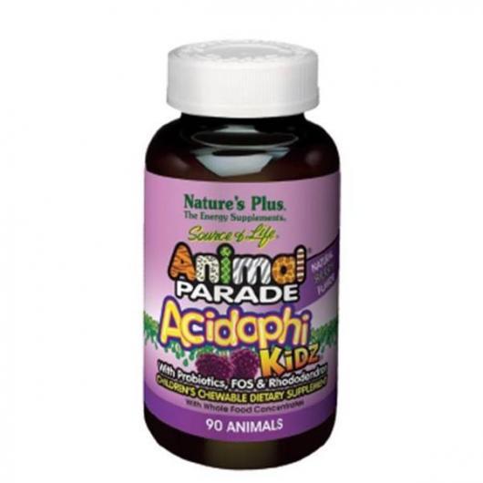 Animal Parade Acidophikidz Nature's Plus, 90 comprimidos