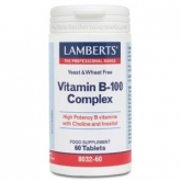 Complesso di Vitamine B-100 Lamberts, 60 compresse
