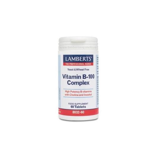 Complejo de Vitaminas B-100 Lamberts, 60 tabletas