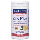 Zinc Plus Lamberts, 100 pastilhas