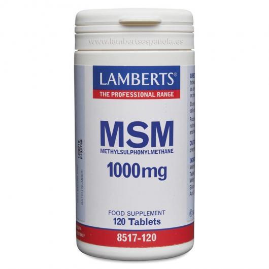 MSM Metilsulfonilmetano 1000 mg Lamberts, 120 tabletas