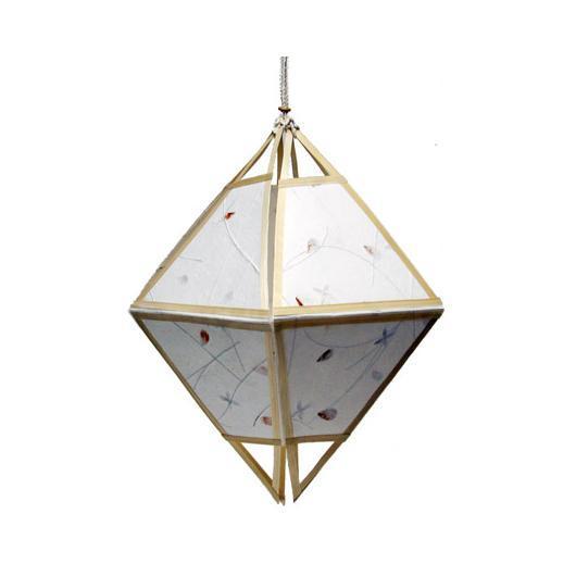 Lampe en papier avec motifs pétales