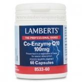 Co-Enzima Q10 100 mg Lamberts, 60 cápsulas