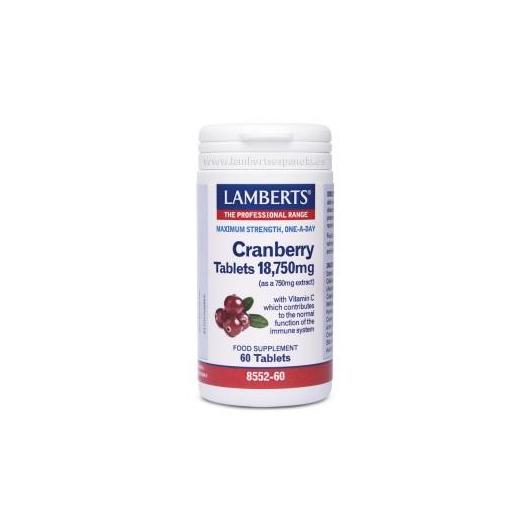 Arándano Rojo 18.750 mg Lamberts, 60 tabletas