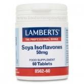 Isoflavones de soja 50 mg Lamberts, 60 comprimés