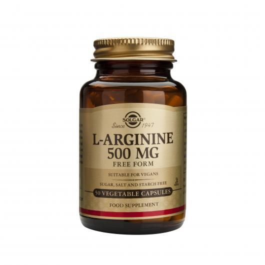 L-Arginina 500 mg Solgar, 50 cápsulas vegetales