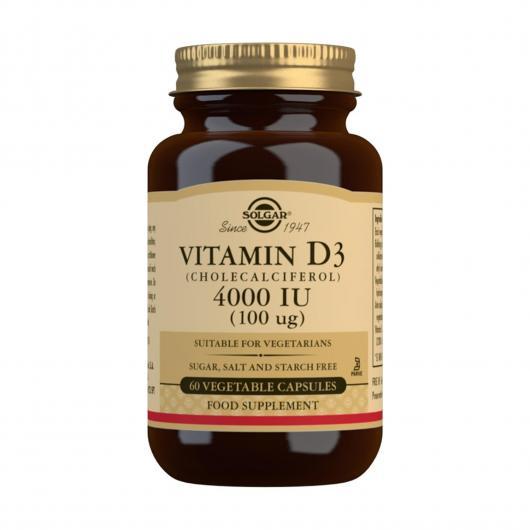 Vitamina D3 4000UI (100µg) Solgar, capsule vegetali