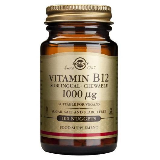 Vitamine B12 1000 µg, 100 comprimés à croquer