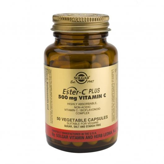 Ester C® Plus 500 mg Solgar, 250 cápsulas vegetales