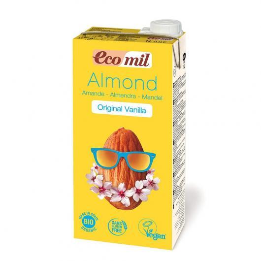 Leche de Almendra con Ágave y Vainilla EcoMil, 1 l