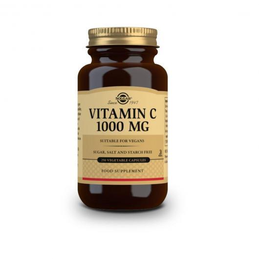 Vitamine C 1000 mg Solgar, 250 gélules végétales