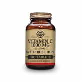 Vitamina C Rosa Canina 1000 mg Solgar, 100 compresse