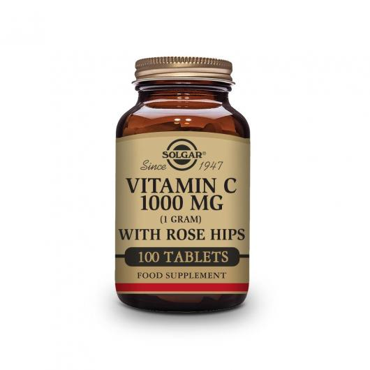 Vitamina C Rose Hips 1000 mg Solgar, 100 comprimidos