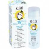 Protetor solar Neutral F50 para bebés e crianças, EcoCosmetics 50ml