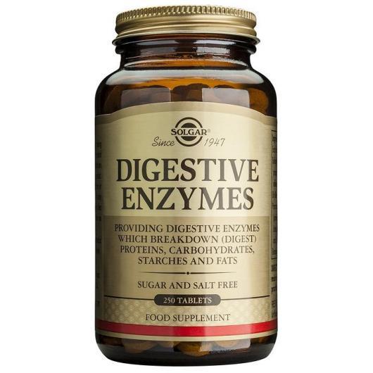Enzimas digestivas Solgar, 250 comprimidos