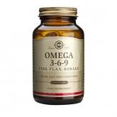 Omega 3 - 6 - 9 (peixes, linhaça, borragem) Solgar, 60 softgels