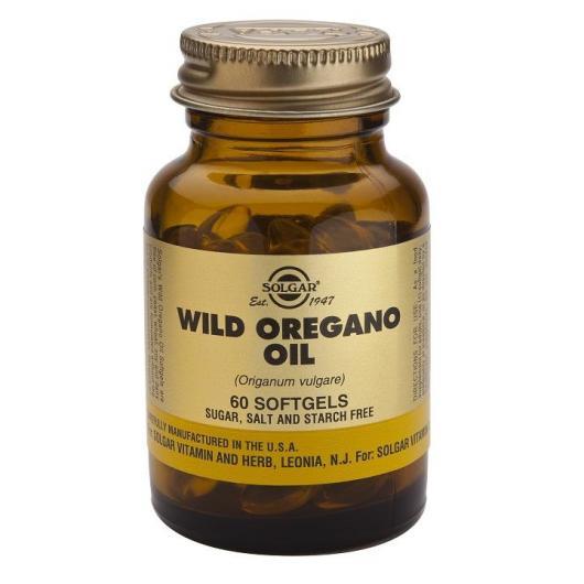 Aceite de Orégano silvestre Solgar, 60 cápsulas blandas