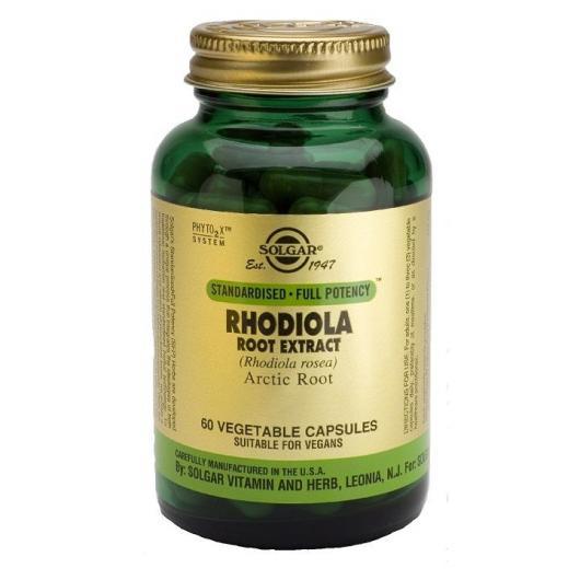 Radice Rhodiola Solgar, 60 capsule vegetali