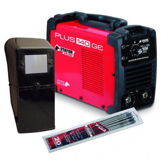 Soldador Plus 140 GE Stayer con pantalla y pack de electrodos