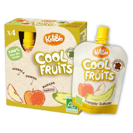 Cool Fruits Manzana y Plátanos Vitabio,4 x 90 g