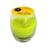 Candela citronella in bicchiere di vetro